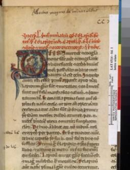 De mineralibus (BnF, lat. 6514, fol. 1r)