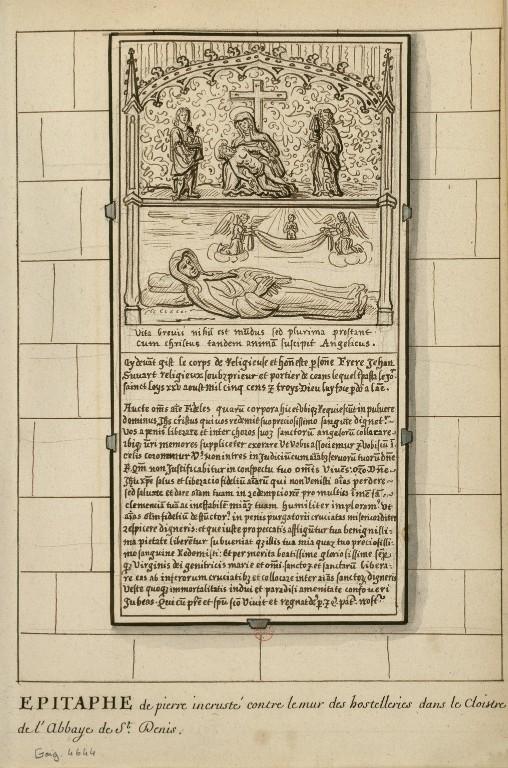 Dessins des épitaphes ornant les murs du cloitre médiéval ConsulterElementNum?O=IFN-6907786&E=JPEG&Deb=1&Fin=1&Param=C