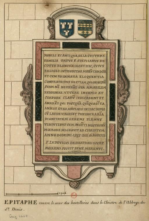 Dessins des épitaphes ornant les murs du cloitre médiéval ConsulterElementNum?O=IFN-6907809&E=JPEG&Deb=1&Fin=1&Param=C