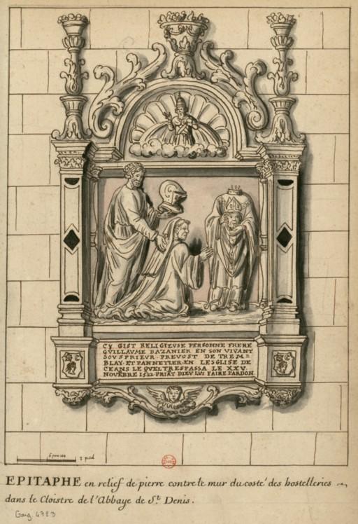 Dessins des épitaphes ornant les murs du cloitre médiéval ConsulterElementNum?O=IFN-6907865&E=JPEG&Deb=1&Fin=1&Param=C