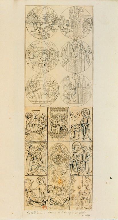 Les vitraux  du XIIIéme siècle . ConsulterElementNum?O=IFN-7740383&E=JPEG&Deb=1&Fin=1&Param=C